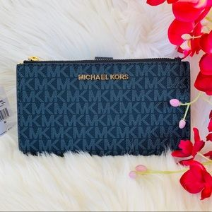 BNWT Michael Kors Jet Set Double Zip Wristlet